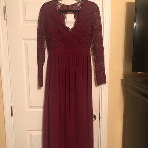 LuLu Awaken My Love Burgundy Dress Size Medium